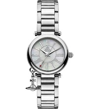 Vivienne Westwood Vv006pslsl Mother Orb Stainless Steel Watch Silver