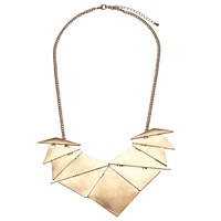 John Lewis Abstract Fan Necklace Gold