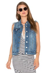 Blank Nyc Denim Vest Blue