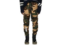 Off White C O Virgil Abloh Camouflage Cotton Ripstop Cargo Pants Beige Tan