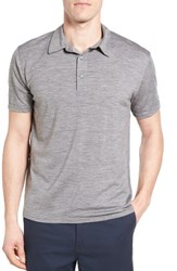 Ibex Men's 'Od' Regular Fit Merino Wool Jersey Polo Medium Stone Grey Heather