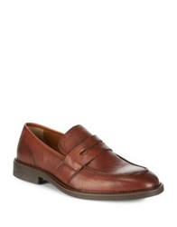 Black Brown Textured Penny Loafers British Tan