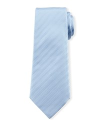 Skinny Striped Silk Tie Light Blue Davidoff