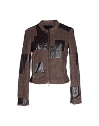 Manila Grace Coats And Jackets Jackets Women Dark Brown