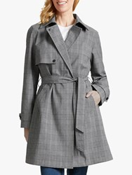 Four Seasons Check Trench Coat Grey