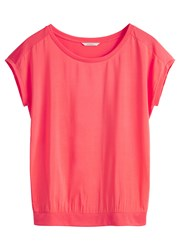Sandwich Matte Satin Panel Top Pink