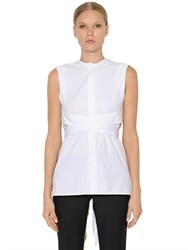 Each X Other Belted Wrap Cotton Poplin Shirt