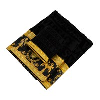 Versace Home Barocco And Robe Bath Towels Set Of 5 Black