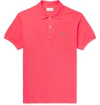 Lacoste Cotton Pique Polo Shirt Orange