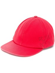 Off White Arrow Print Cap Red