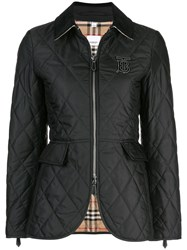 Burberry Quilted Logo Plaque Jacket Black