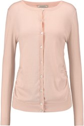 Nina Ricci Lace Trimmed Cotton Blend Cardigan Pastel Pink