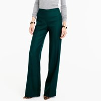J.Crew Collection Full Length Pant In Italian Wool Serge