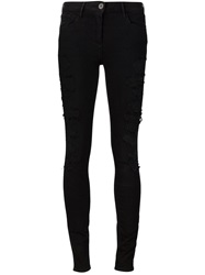 3X1 Distressed Skinny Jeans Black