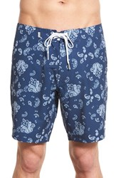 Men's Rhythm 'Jimi Blue' Paisley Print Swim Trunks