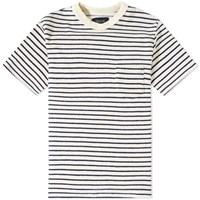 Howlin' Psycho Killer Stripe Towel Tee White