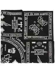 Ktz Church Print Scarf Black