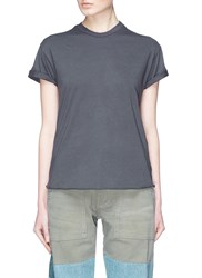 Sandrine Rose 'The Two Hundred' Slogan Print T Shirt Grey