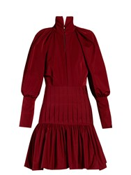 Ellery Skyward Bubble Sleeved Mini Dress Burgundy