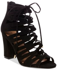 Madden Girl Banner Lace Up Sandals Women's Shoes Black