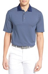 Men's Bobby Jones 'Edge Stripe Xh20' Stretch Golf Polo Summer Navy