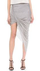 Helmut Lang Asymmetrical Wrap Skirt Soft Grey Heather