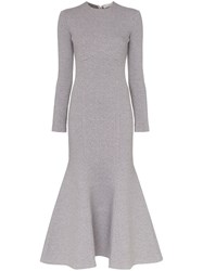 Vika Gazinskaya Trumpet Hem Dress Grey