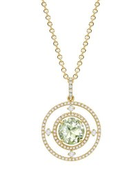 Kiki Mcdonough Apollo Green Amethyst And Diamond Pendant Necklace