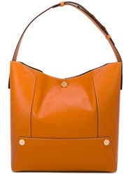 Stella Mccartney Honey Popper Hobo Bag Women Artificial Leather One Size Yellow Orange