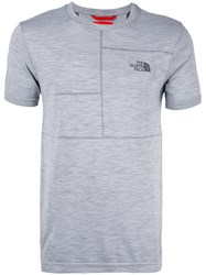 The North Face Slim Fit T Shirt Men Polypropylene Wool Polyester M Grey