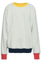 Frame French Cotton Terry Sweatshirt Off White Off White