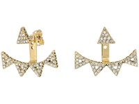 House Of Harlow Alps Pave Ear Jacket Gold Earring