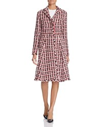 Paule Ka Tweed Swing Coat Rouge
