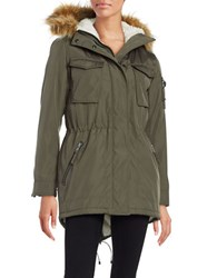 S13 Faux Fur Trimmed Sherpa Lined Field Parka Military