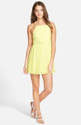 Jella C. Racerback Skater Dress Yellow