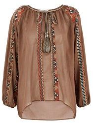 Nougat London Boho Blouse Brown