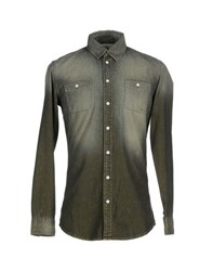 Reign Denim Denim Shirts Men