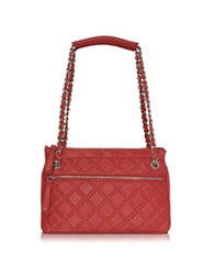 Buti Quilted Leather Shoulder Bag Red