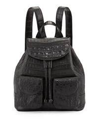 Small Crocodile Backpack Black Black Matte Nancy Gonzalez