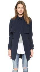 Madewell Drapery Trench Coat Night Vision