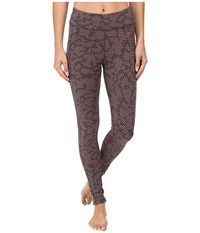 The North Face Pulse Tight Asphalt Grey Opti Dot Print Women's Workout Brown