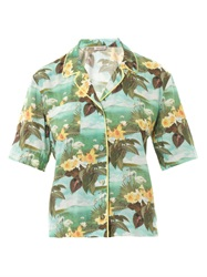 Emma Cook Hawaiian Swan Print Shirt