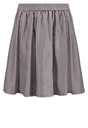 Selected Femme Sfremmi Aline Skirt Steel Gray Grey