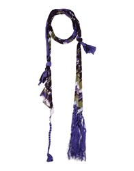 Patrizia Pepe Accessories Oblong Scarves Women Purple