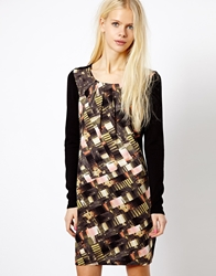 Esprit Printed Woven Front Dress Multi
