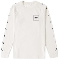 Wood Wood Long Sleeve Han Tee White