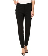 Vince Camuto Zip Front Pants With Side Panels Rich Black Women's Casual Pants
