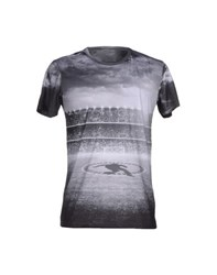 Bikkembergs Topwear T Shirts Men Grey