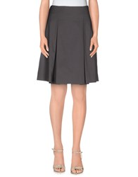 D.Exterior Skirts Knee Length Skirts Women Lead