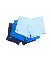 Lacoste Colour 3 Pack Trunk Blue Assorted Underwear Multi